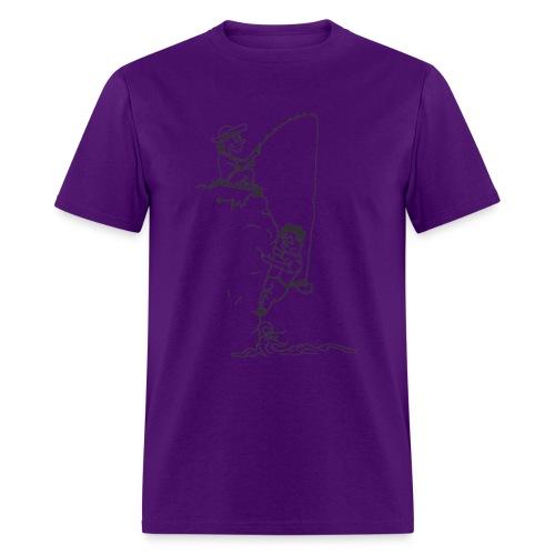climbing tshirt vector dws fisherman - Men's T-Shirt