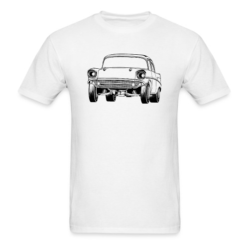 Gasser Up 1957 Chevy Drag Car - Men's T-Shirt