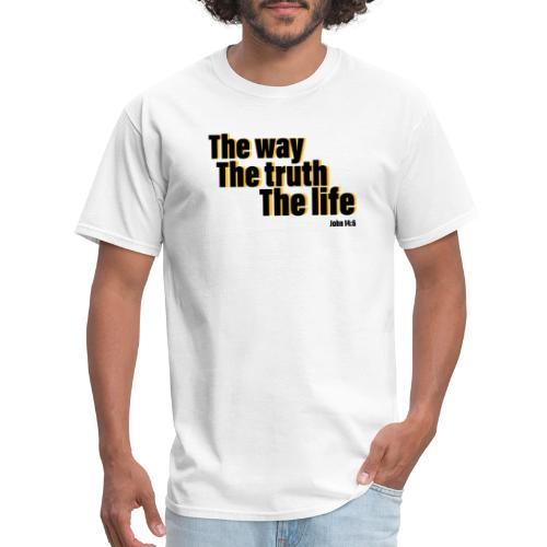 He is The way the truth the life logo - Men's T-Shirt