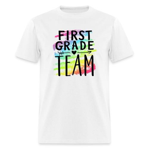 First Grade Team Crayon Splash Teacher T-Shirts - Men's T-Shirt