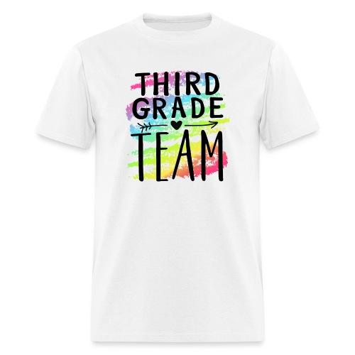 Third Grade Team Crayon Splash Teacher T-Shirts - Men's T-Shirt