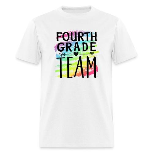 Fourth Grade Team Crayon Splash Teacher T-Shirts - Men's T-Shirt