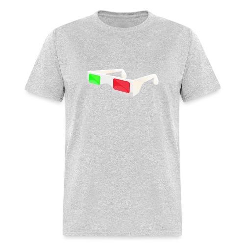 3D red green glasses - Men's T-Shirt