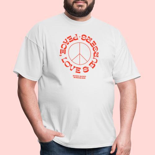Peace, Love & Burgers - Men's T-Shirt