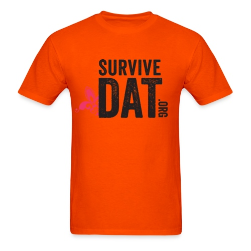 survive dat final logo stacked org color notag out - Men's T-Shirt