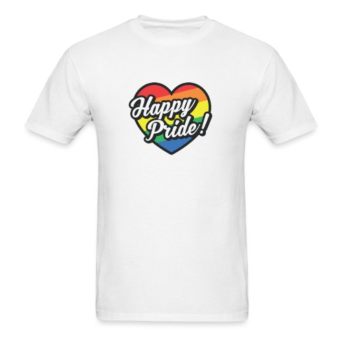HEART Happy Pride - Men's T-Shirt