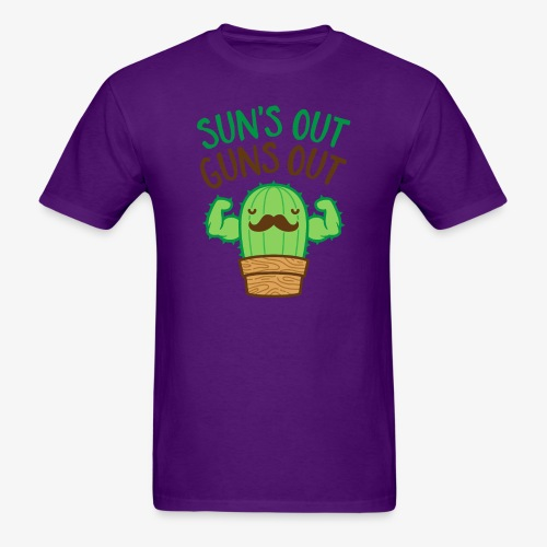 Sun's Out Guns Out Macho Cactus - Men's T-Shirt