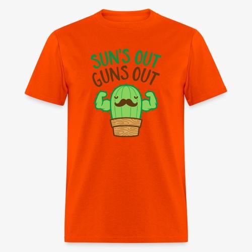 Sun's Out Guns Out Macho Cactus - Men's T-Shirt