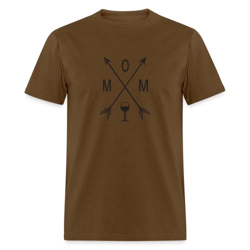 Mom Loves Wine (black ink) - Men's T-Shirt