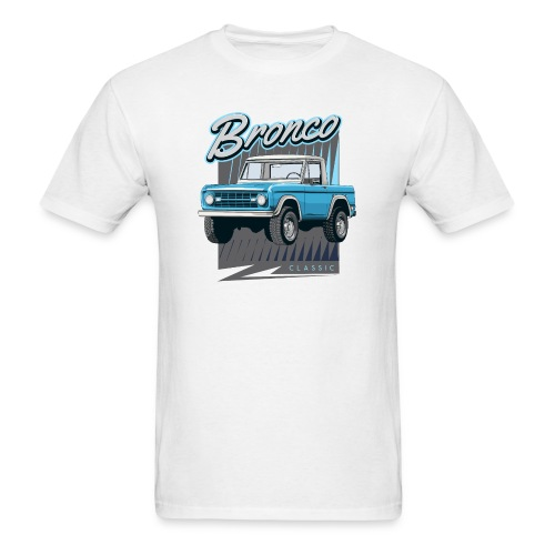 BRONCO Blue Half Cap Truck T-Shirt - Men's T-Shirt