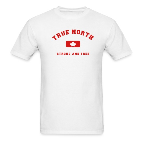 True North Strong and Free - Men's T-Shirt