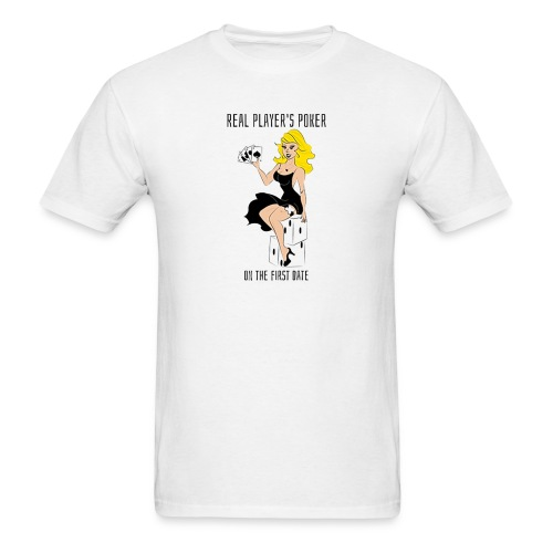 REAL PLAYER'S POKER - Men's T-Shirt