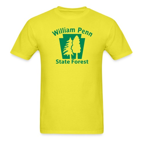 William Penn State Forest Keystone (w/trees) - Men's T-Shirt