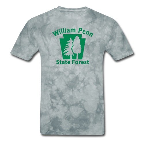 William Penn State Forest Keystone (w/trees) - Men's T-Shirt