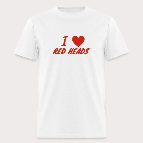 I HEART RED HEADS - Men's T-Shirt