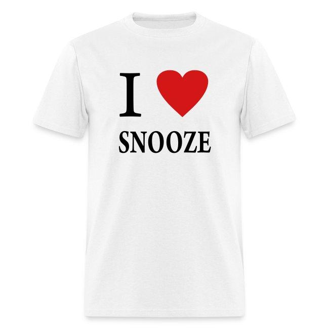 I Love Heart Snoozing T-Shirt