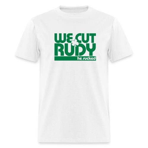 we cut rudy text cvs - Men's T-Shirt