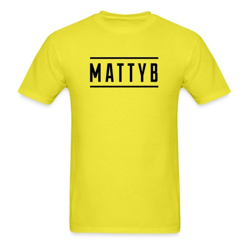MattyB White Logo - Men's T-Shirt