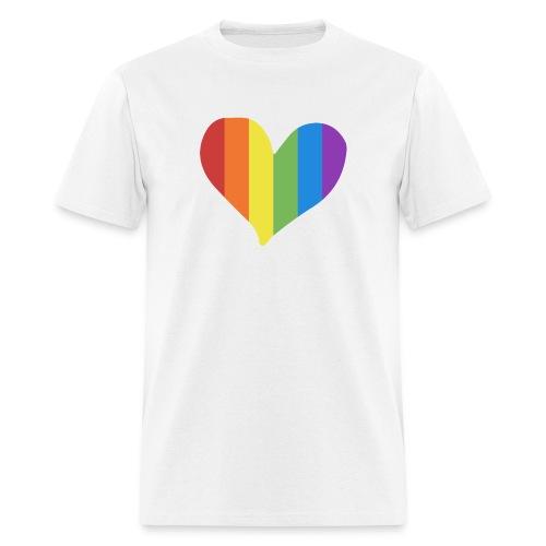 Pride Rainbow Heart - Men's T-Shirt