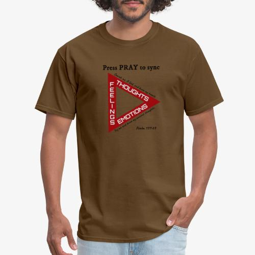 Press PRAY to Sync - Men's T-Shirt