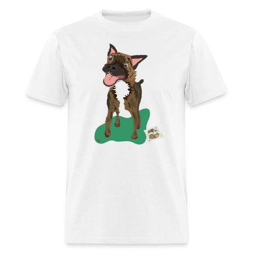 Edgrrr Brindle Terrier - Men's T-Shirt