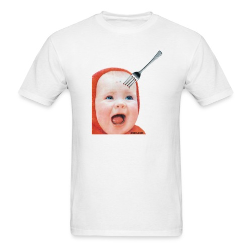 Baby with Fork in Head - Men's T-Shirt