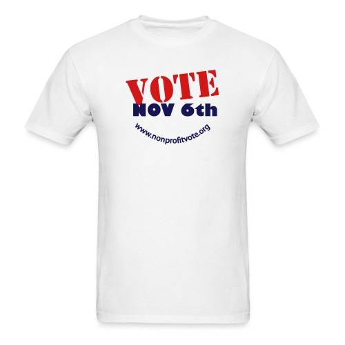 vote button 3 nobg - Men's T-Shirt