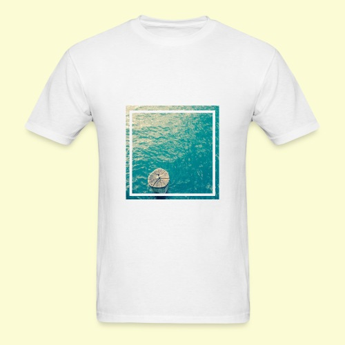 Framed ocean print - Men's T-Shirt