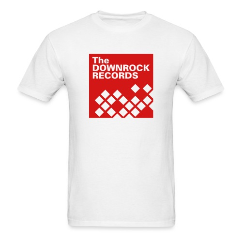 downrockrecords final 1blk - Men's T-Shirt