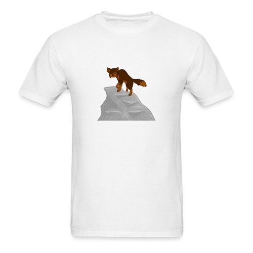 Wolf looking down on Boulder - Men's T-Shirt