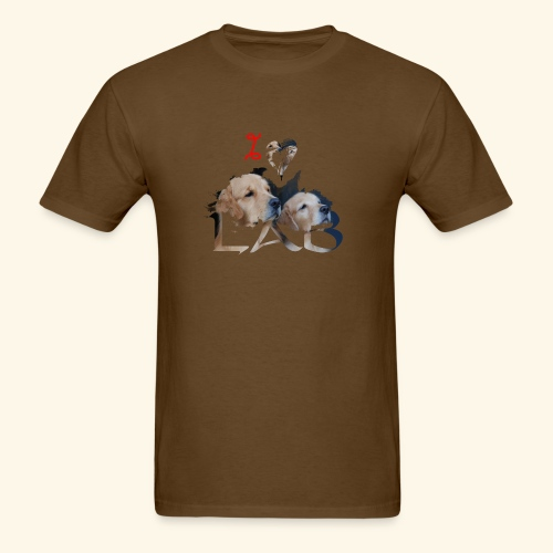 I love Lab - Men's T-Shirt
