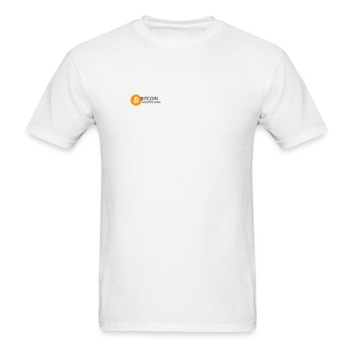 BTC accepted here - Men's T-Shirt