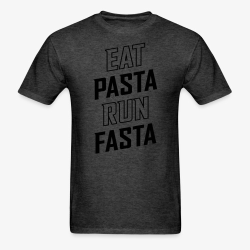 Eat Pasta Run Fasta v2 - Men's T-Shirt