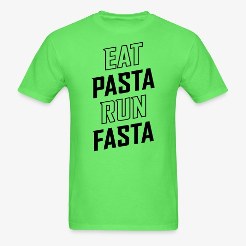 Eat Pasta Run Fasta v2 - Men's T-Shirt