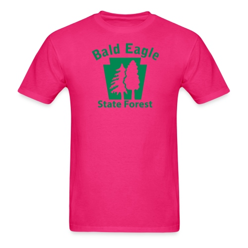 Bald Eagle State Forest Keystone (w/trees) - Men's T-Shirt