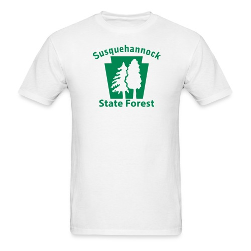 Susquehannock State Forest Keystone (w/trees) - Men's T-Shirt