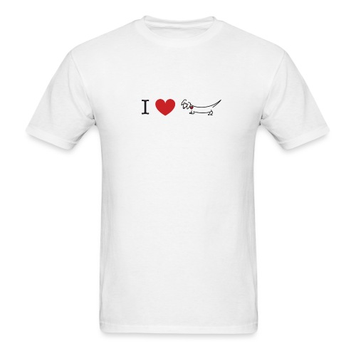 I love Dachshund - Men's T-Shirt