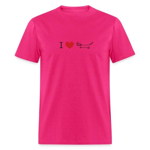 I love Dachshund - Men's T-Shirt