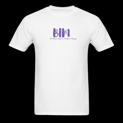 BIM White/Purple - Men's T-Shirt