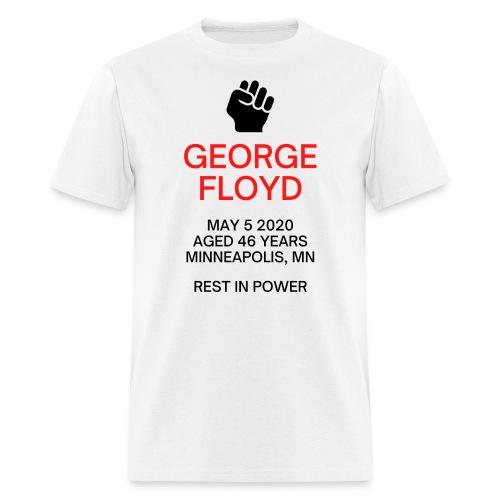 George Floyd Memorial(Black & Red version) - Men's T-Shirt