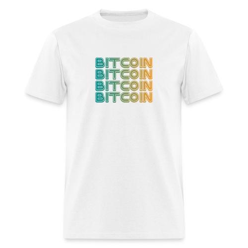 Bitcoin Art Deco Tshirt - Men's T-Shirt