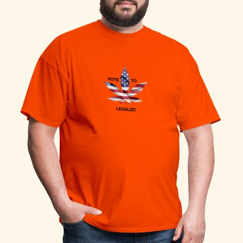 VOTE TO LEGALIZE - AMERICAN CANNABISLEAF SUPPORT - Men's T-Shirt