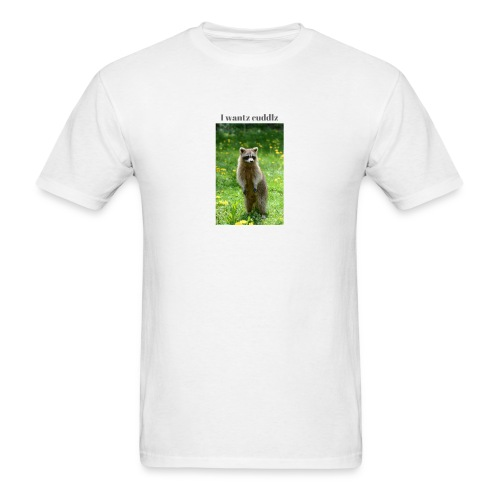 Raccoon ,I wantz cuddlz t-shirt - Men's T-Shirt