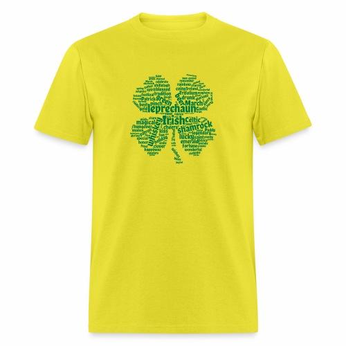 Shamrock Word Cloud - Men's T-Shirt