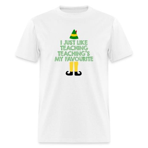 Teaching's My Favourite Christmas Teacher T-Shirt - Men's T-Shirt