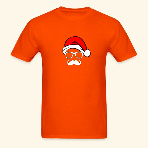 Santa with Geek and Mustache - Men's T-Shirt