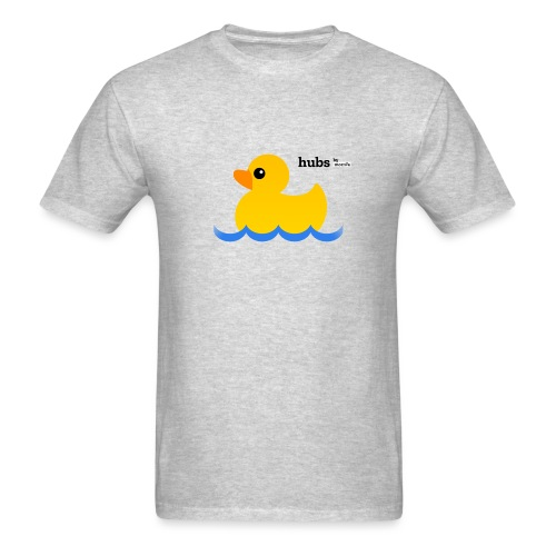 Hubs Duck - Wordmark and Water - Men's T-Shirt