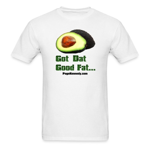 avocado1 blk - Men's T-Shirt