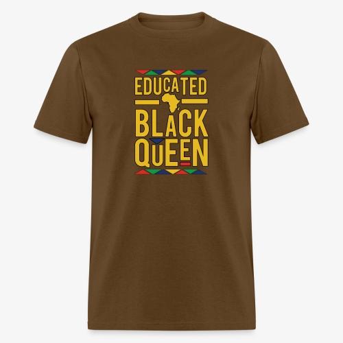 Dashiki Educated BLACK Queen - Men's T-Shirt
