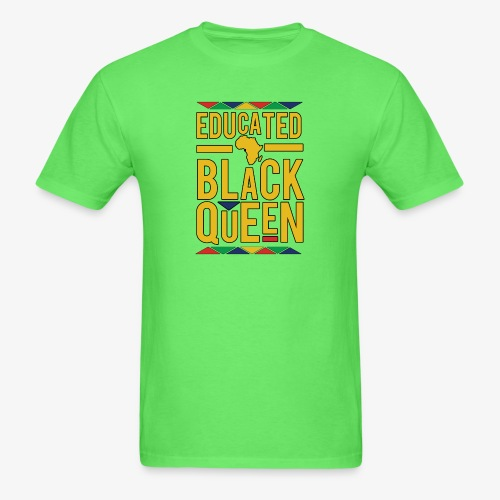 Dashiki Educated BLACK Queen - Men's T-Shirt